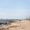 Looking out to New Haven, Connecticut.- Lighthouse Point Park
