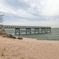 A fishing pier.- Lighthouse Point Park