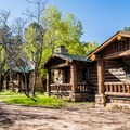 The North Rim Cabins along Bright Angel Point Trail.- Bright Angel Point