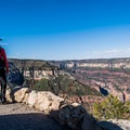 Panoramic views from the overlook!- Bright Angel Point