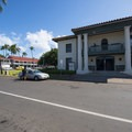 The Old Lahaina Courthouse along Wharf Street.- Lahaina National Historic District