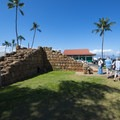The Old Fort on the southwest corner of the Lahaina Banyon Court.- Lahaina National Historic District