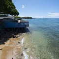 View of Lahaina's waterfront.- Lahaina National Historic District