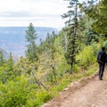 Beautiful views abound throughout the entire trail.- North Kaibab Trail to Roaring Springs