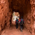 The Supai Tunnel heading down the trail.- North Kaibab Trail to Roaring Springs