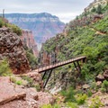 Redwall Bridge.- North Kaibab Trail to Roaring Springs
