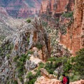First views of Eye of the Needle.- North Kaibab Trail to Roaring Springs