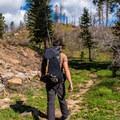 Approaching Point Imperial on Ken Patrick Trail.- Ken Patrick Trail