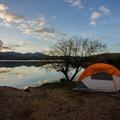 Campsite off of Bartlett Lake.- Bartlett Lake