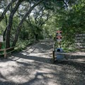 The trailhead to Nojoqui Falls.- Nojoqui Falls
