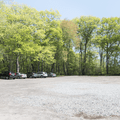 The paring lot off of West Main Street.- Cedar Lake Beach