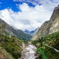 This is the first view that greets you as you set off on your Inca Trail journey!- Machu Picchu via the Inca Trail