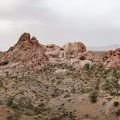 Red sandstone rock formations at Whitney Pockets.- Whitney Pockets