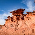 Little Finland wind- and water-sculpted rock formations.- Little Finland