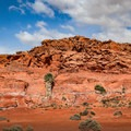 The otherworldly red sand and sandstone formations of Little Finland.- Little Finland