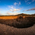 The Devil's Throat is a sinkhole in the desert 50 feet deep.- Gold Butte National Monument