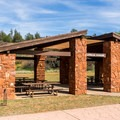 One of three reservable ramadas.- Red Rock State Park