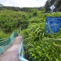 Stairway access to Mokuleia Bay and Slaughterhouse Beach.- Mokuleia Bay + Slaughterhouse Beach