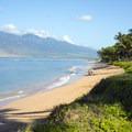 View north of Kehei Beach and the West Maui Mountains.- Kihei Beach - Shoreline Access 118
