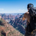 Taking it all in at Grand Canyon National Park.- Widforss Trail