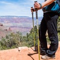 Trekking poles will help with the steep part of this trail.- Dripping Springs