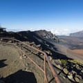 View east of the Haleakalā crater from the park's visitor center.- Haleakalā Visitor Center + Pā Ka'oao Trail