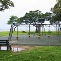 Kalanianaole park has a playground for children.- Kalanianaole Beach Park