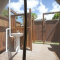 Tentalow wash basin and shower area at Camp Olowalu.- Camp Olowalu