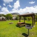 Picnic area at Camp Olowalu.- Camp Olowalu