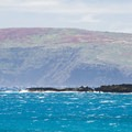 View southwest of Kaho'olawe Island Preserve.- Hoapili Trail / King's Highway