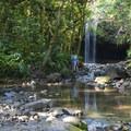 Upper Falls on Ho'olawa Stream.- Twin Falls Hike + Wailele Farm