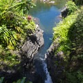 Palauhulu Stream slows down to create Ching's Pool.- Ching's Pool