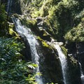 View of Upper Waikani Falls from HI-360.- Upper Waikani Falls / Three Bears Falls