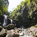Upper Waikani Falls.- Upper Waikani Falls / Three Bears Falls