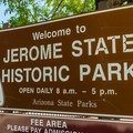 Welcome to Jerome State Historic Park.- Jerome State Historic Site