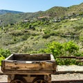 The town of Jerome looms over the park.- Jerome State Historic Site