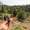 On the Eagle's Nest Trail.- Red Rock Loop Hike