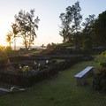 Honokalani 'Ohana cemetery sunrise at Wai'ānapanapa State Park.- Wai'ānapanapa State Park