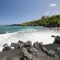 "Pa'iloa ""Black Sand"" Beach.- Wai'ānapanapa State Park"