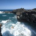 View from the Wai'anapanapa Sea Arch.- Wai'ānapanapa State Park
