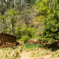Remnants of the old Mayhew Lodge.- West Fork Trail Hike