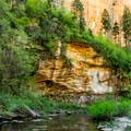 A beautiful part of the canyon.- West Fork Trail Hike