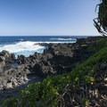 View out over the ocean from the Kahakai Trail.- Kūloa Point + Kahakai Trail
