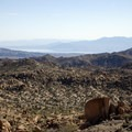 A view of the Salton Sea from Mastodon Peak.- Lost Palms Oasis + Mastodon Peak Trail
