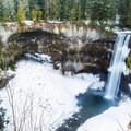 Brandwine Falls in the early springtime.- Brandywine Falls Snowshoe