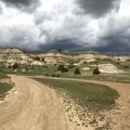 Views of the badlands from the campground.- Wannagan Campground