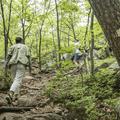 Hikers ascending Mount Taurus.- Mount Taurus / Bull Hill