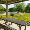 This picnic area is near the lagoons.- Dead Horse Ranch State Park