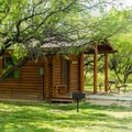 One of eight rental cabins.- Dead Horse Ranch State Park