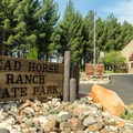 The Head Horse Ranch entrance station.- Dead Horse Ranch State Park